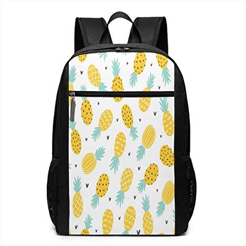 TRFashion Rucksack Pineapple and Hearts 17 Inch Travel Laptop Backpack Shoulder Bag Schoolbag Book Bag for Men Women Black - Spade Notebook-tasche Kate