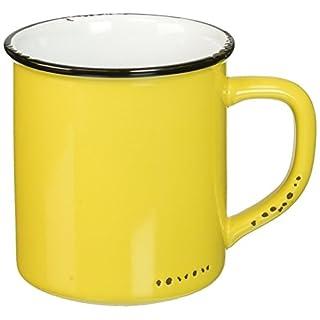 Abbott Collection Enamel Look Stoneware Mug, Yellow