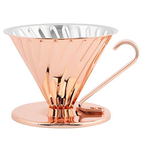 Wiederverwendbarer Kupfer-Tropfen Kaffee Filter Kaffee Filter Filter Cup ROSE GOLD