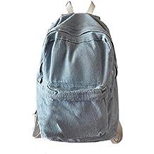 bolsos de las mujeres, FEITONG Moda Unisex Denim Mochila de Viaje Bolsa para la escuela Retro Casual mochila Pantalón