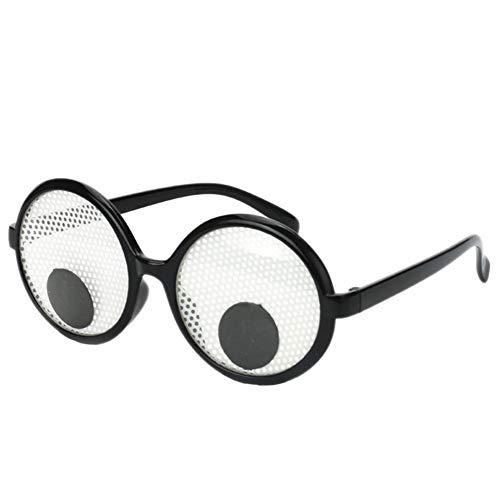 Aisoway Lustige Glubschaugen Brille schüttelt Augen Party Brille und Spielzeug für die Partei Cosplay Kostüme und Halloween-Party-Dekoration