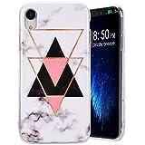 Amcor Love Coque iPhone XR Marbre, Housse en TPU Silicone Souple avec Motif Marbre...