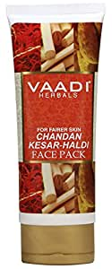 Vaadi Herbals Chandan Kesar Haldi Fairness Face Pack, 120g