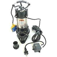!! Profi !! Fäkalienpumpe Schmutzwasserpumpe V750 mit Schneidwerk + Schaufelräder aus Edelstahl, Leistung 750Watt, Spannung 230V/50Hz, Fördermenge: 18000l/h + Überspannungsschutz + Trockenlaufschutz.