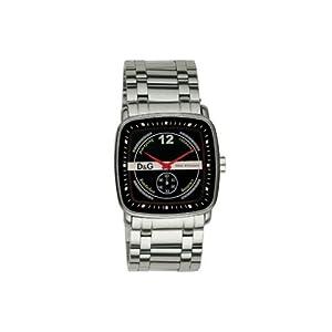 D&G Reloj analogico para Hombre de Cuarzo con Correa en Acero Inoxidable