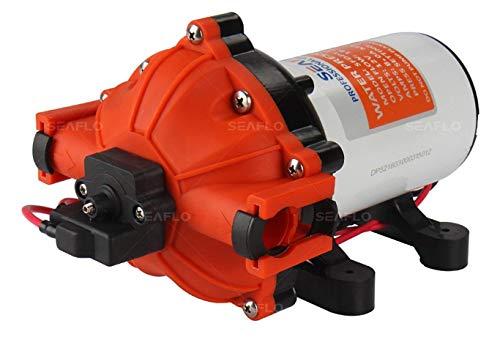 LIGHTEU®, SEAFLO 12V DC 5.0 GPM 60 PSI 52-Series Diaphragm Water Pressure Pump for Marine Boat RV Caravan