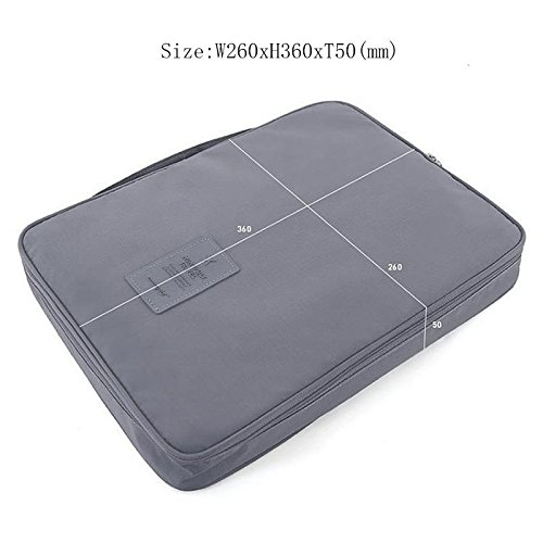 Ducomi® Cloonie - Reisehemd und Krawatte Organizer - Resistent und Wasserdichte Aufbewahrungsbeutel für Koffer und Gepäck (Grau)
