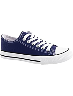Elara Unisex Sneaker | Bequeme Sportschuhe für Damen und Herren | Low Top Turnschuh Textil Schuhe 36-46
