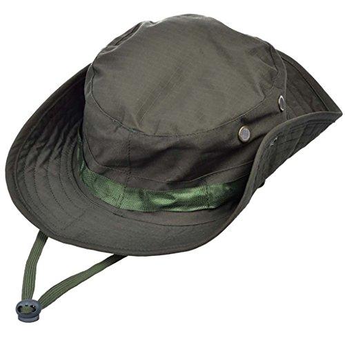 MerryBIY Sombrero de la Pesca Gorra Jungle Hat Pescador Gorro Para  Mountaineer Campamento Redondo Adumbral Sombrero b8b126b28cc