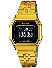 Casio Reloj Digital para Mujer de Cuarzo con Correa en Acero Inoxidable LA680WEGA-9BER