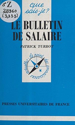 Le Bulletin de salaire