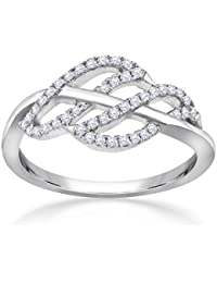 Malabar Gold And Diamonds 18KT White Gold And Diamond Ring For Women