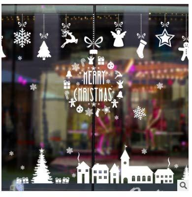 Wandaufkleberweihnachtsschneeflocke-Haus-Charme-Wand-Aufkleber-Schlafzimmer-Fenster-Glastür Und Fenster-Hintergrund-Dekorpapier