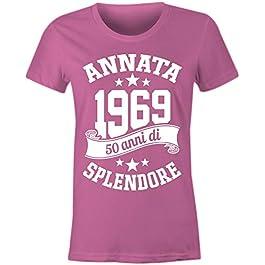 6TN Le Donne realizzate nel 1969 50 Anni di Stupenda Maglietta del 50esimo Compleanno