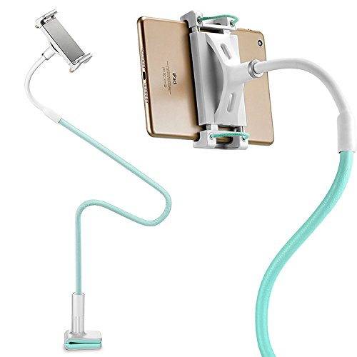 First2savvv LR-MTL2-13D02 Supporto da tavolo, Regolabile Perno Universal 3.5-14 Pollici Supporto per iPad Pro Mini / iPad Mini 4 / iPhone 6s / 6s Plus / Samsung Galaxy S7 S6 / Galaxy Note 10.1 / Huawe LR-MTL2-06UFS01 + usb mini ventilatore