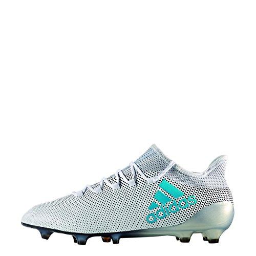 adidas X 17.1 FG, Chaussures de Football Homme, Blanc/Bleu Ãlectrique/Gris Clair Blanc (Ftwbla/Azuene/Gritra)