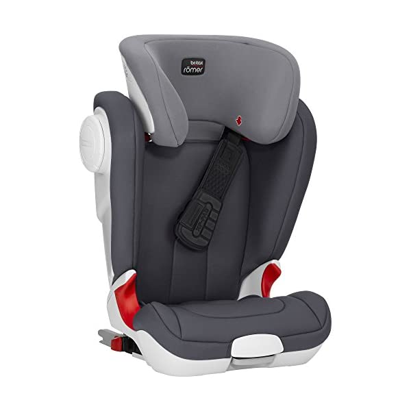 Britax Römer car seat Kidfix XP (SICT) Group 2/3. Britax Römer Front impact pad - XP, storm gray Shockproof side protection - MTS Codes High back for shock absorbing side protection and correct strap guide 11