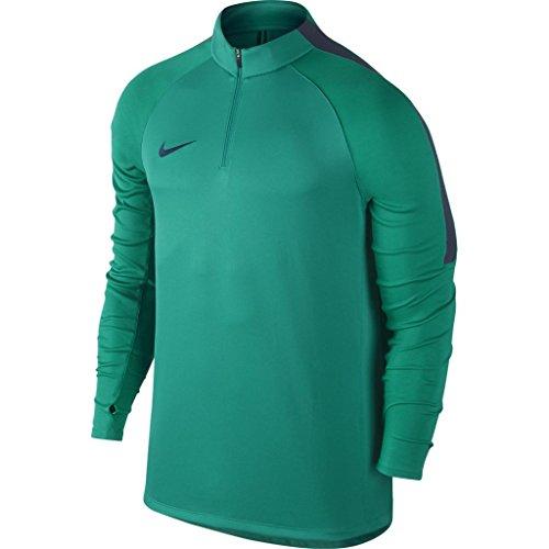 Nike Squad Langarm Herren-Fußballoberteil mit Kurzreißverschluss Green
