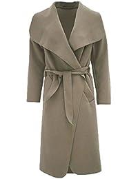 Fast Fashion - Manteau Les Manches Long Plain Duster Cape Belted Cascade - Femmes