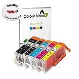 1 Jeu ( 5 Encre ) Colour Direct Compatible Cartouches PGI 570XL CLI 571 XL-...