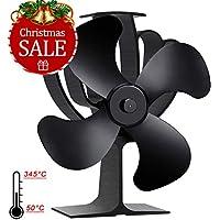 Aobosi Calor Powered Horno Ventilador para Madera/Leña Burner, 4 Aspas,Funcionamiento silencioso