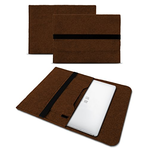 Sleeve Hülle Trekstor Primebook P13 Tasche Filz Notebook Cover 13,3 Laptop Case , Farben:Braun