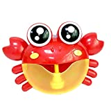 wuayi Bubble Machine Tub Big Crab Automatic Bubble Maker Blower 30 Music Songs Bath Toy for Baby (A)