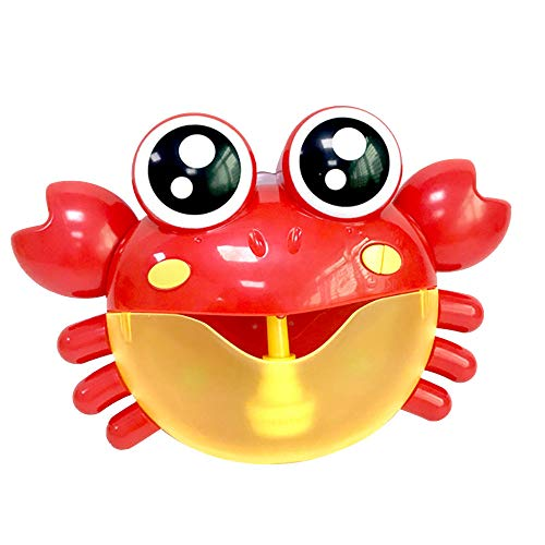hahuha Toy  Dekompressionsspielzeug,Bubble Machine Badewanne Big Crab Automatische Bubble Maker Gebläse 30 Musik Song Bad Spielzeug für Baby (Leichte Pole-trimmer)