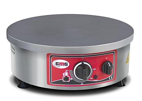 Profi Gastronomie Crepe-Gerät GMG - 3000 Watt - aus Edelstahl, Pfannkuchen Wrap CR-R40 für Gastro, Crepes Eisen / Eisenpfanne, Crepes Platte / Pfanne, Crepes Grill / Herd, Crepes Maschine / Maker (Crepe Wrap)