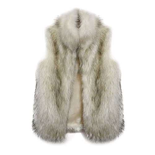 BOBORA Luxury Donna Faux Fur Coat Casuale Outwear Parka Long Trench Jacket Outwear