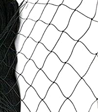 Anti Bird Net 6 Foot X 8 Foot / 6 X 10/10 X 10/10 X 12/10 X 15 for Balcony Garden Windows with in Built Nylone Ropes to Easy Tying with 30 Pcs Plastic Cable Clips (Black)