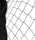#9: Anti Bird Net 6 Foot X 8 Foot / 6 X 10/10 X 10/10 X 12/10 X 15 for Balcony Garden Windows with in Built Nylone Ropes to Easy Tying with 30 Pcs Plastic Cable Clips (Black)