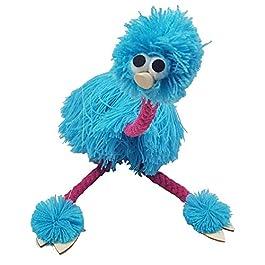 2PCS attività misto marionette Doll, Puppet Doll Muppets Animal Puppet Hand Puppets struzzo corda g