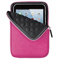 Trust Anti-Shock Bubble Sleeve (geeignet für Tablets (7-8 Zoll) wie iPad Mini, Galaxy Tab 4 7.0 & Galaxy Tab 4 8.0) rosa