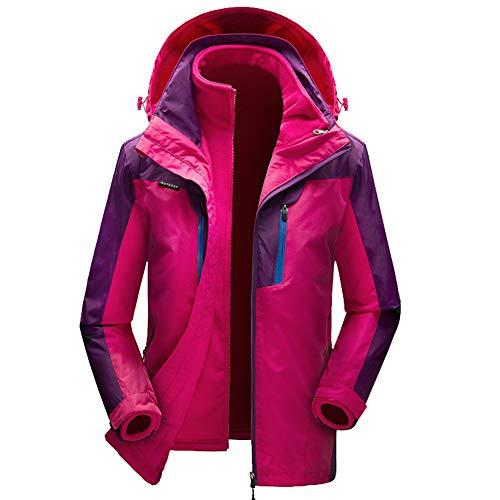 4164rj5XPBL. SS500  - Womens 3 in 1 Mountaineering Jacket, Two-pieces Windproof Coat Wear-resistant Fleece Rain Jacket for Autumn and Winter Warm Zip Pockets Jackets