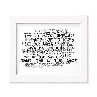 Motorhead Poster Print - Ace of Spades - Lyrics Gift Signed Art