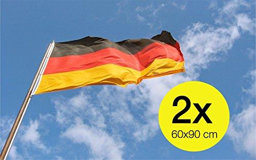 TK Gruppe Timo Klingler 2X Deutschland 60 * 90 cm Flagge Fahne Deutschlandfahne Deutschlandflagge Fanartikel WM EM Fußball, Handball UVM.