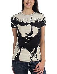 Lady GaGa - Lady Gaga - All Over Face Mädchen Kurzarm T-Shirt in schwarz