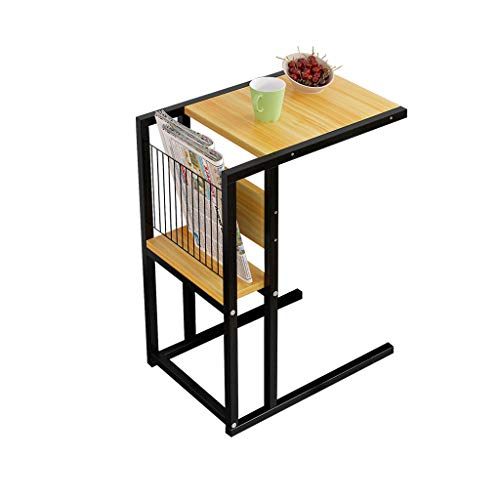CCJW Tavolo Pieghevole Compatto Scaffale di stoccaggio della Tabella del Computer Portatile del tavolino da Salotto del tavolino da Salotto del sofà del Salone Tavolo Pieghevole Portatile