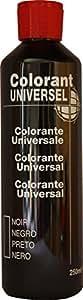 Noir Colorant Universel Concentré 250 ml pour toutes peintures décoratives et bâtiments. Grande compatibilité aussi bien en milieux solvant et aqueux. Convient également à la coloration des enduits , ciments , plâtres , et résines. Grande facililté de dosage grâce à son bouchon compte goutte. Utilisation en extérieur et intérieur possible. Excellente tenue lumière et intempérie,