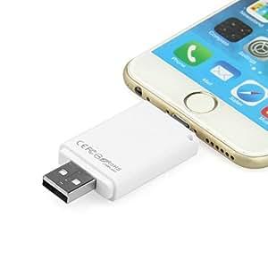 DMG iFlash Drive Card Reader with Bonus 32GB SanDisk microSD Card Storage for Apple iPhone 6 5S 5 iPad 4 iPad Air Air 2 iPad Mini