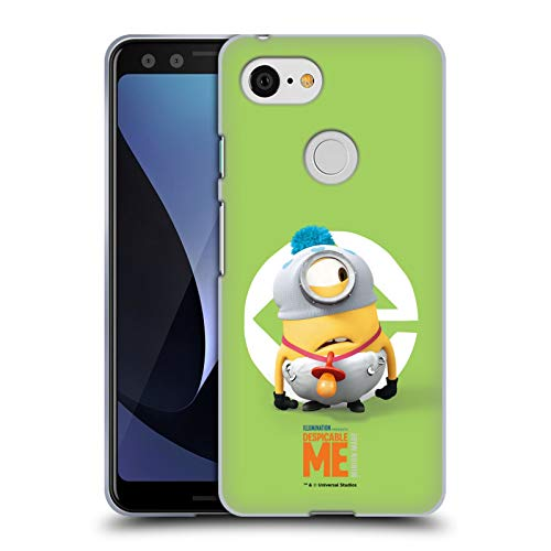 Head Case Designs Offizielle Despicable Me Stuart Baby Kostuem Minions Soft Gel Huelle kompatibel mit Google Pixel 3