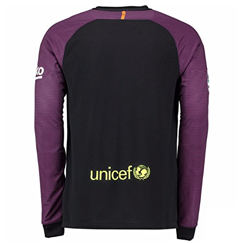 Barcelona a maniche YTH lunghe Volt Nike per GK Jsy–Maglietta LS FC Nero uomo Stadium Black q4xC5
