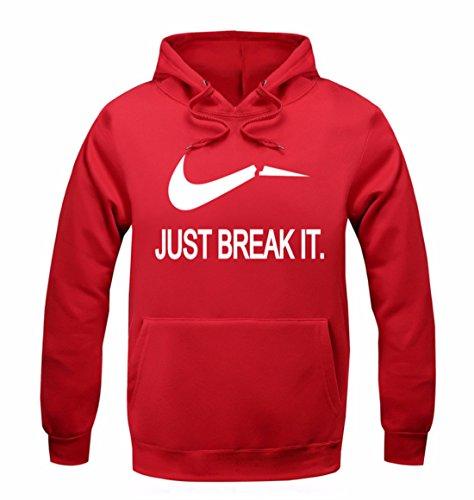 Men's Fashion Solid Leisure Pullover Moleton Masculino Sweatshirts red