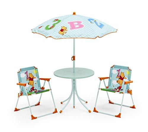 Garten Tischset Kinder Stühle Tisch Sonnenschirm Klappstuhl Gartenmöbelset Winnie Pooh