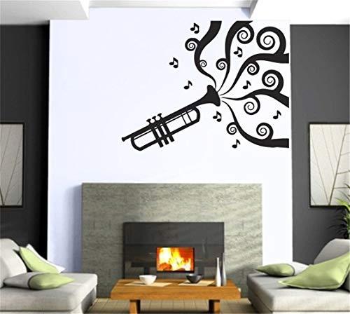 dtattoo Schlafzimmer Rauchrohr Sound Musik Rock & Roll Wandbild Wandkunst Dekor Aufkleber für Musikzimmer Wohnzimmer ()