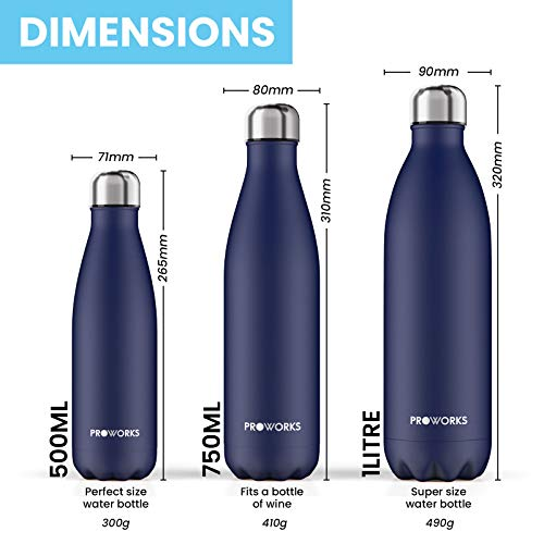 Zoom IMG-3 proworks bottiglia acqua in acciaio