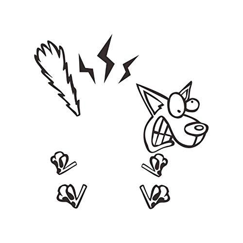 Wandaufkleber Cartoon Stromschlag Hund Wandaufkleber Abziehbilder Abnehmbare Wohnzimmer Schlafzimmer Abziehbilder Diy Kunst Dekoration 11 X 8 Cm -