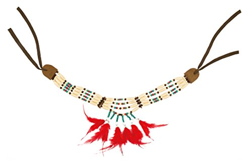 Indianer Marken Kostüm - Boland 44129 - Halskette Indianerin Squaw
