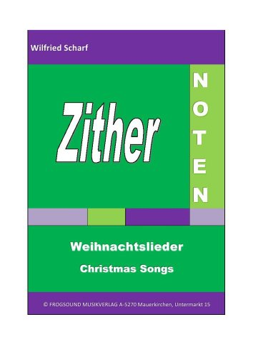 Zither-Noten: Weihnachtslieder/Christmas Songs
